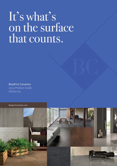 BluePrint Ceramics 2013 Brochure Design