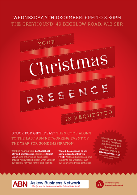 Christmas poster design by Avenue