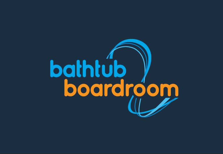 Corporate ID designed for Bathtub 2 Boardroom, a charity providing free office space and mentor support to young businesses.