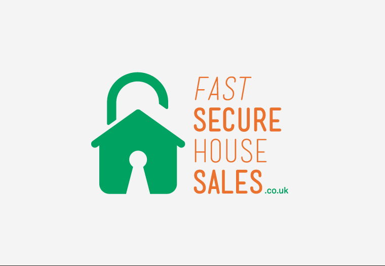 Initial logo concept for FastSecureHouseSales.co.uk, an internet-based UK home buyer. Website and stationery design currently in development.