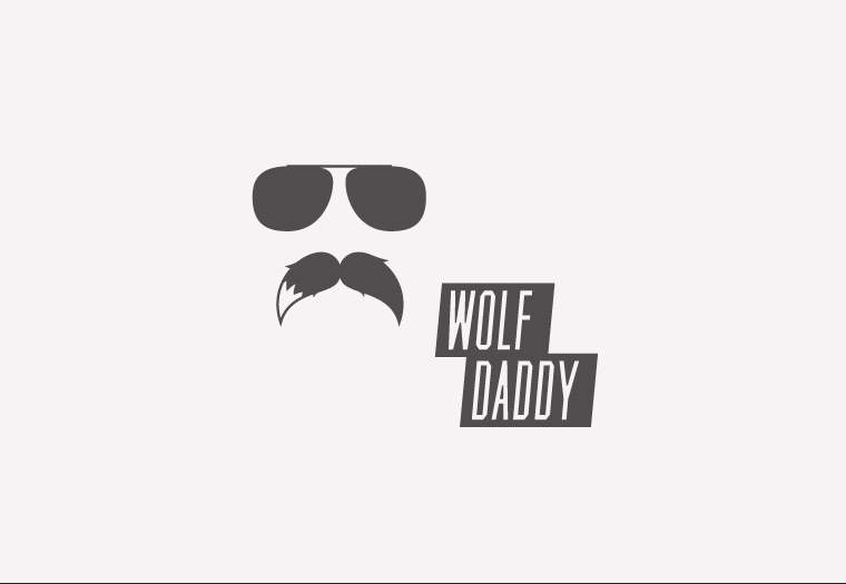 Wolf Daddy Initial Logo Concept 1