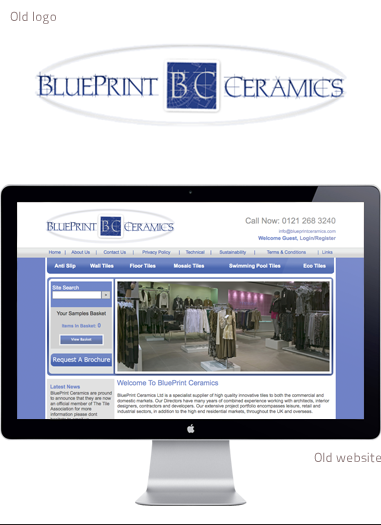 The old BluePrint 'brand' - previous logo and website design.
