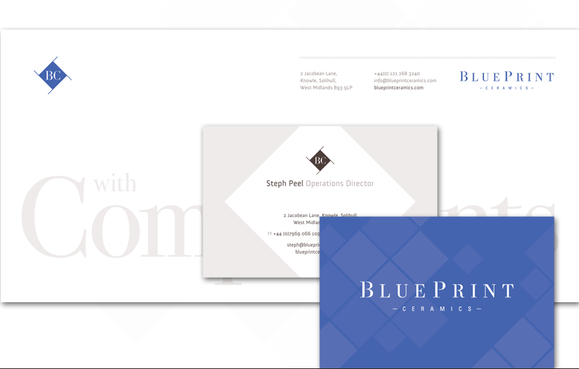 Branding brochure design web design stationery blueprint blueprint business stationery set malvernweather Image collections
