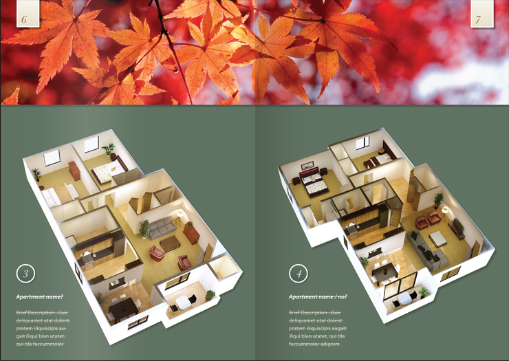 Brochure / pamphlet design - inside spread