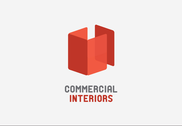 Logo Design Concept For Commercial Interiors An Office Fitting And Interior Company