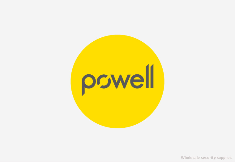 A bold logotype design was needed as part of Avenue's branding for Powell, a wholesale security suppliers in Birmingham.