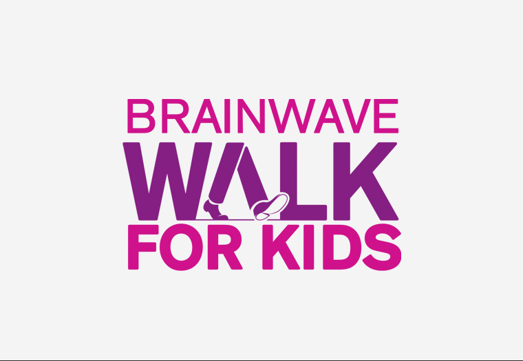 This is the logo we designed to feature on a microsite that we built to promote children's charity, Brainwave's Walk for Kids.