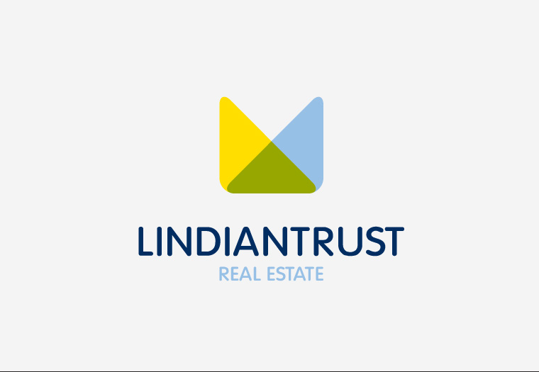 Stripped back redesign of the Lindian Trust's corporate identity. The original elements of sun, sea and property are refined into one icon.