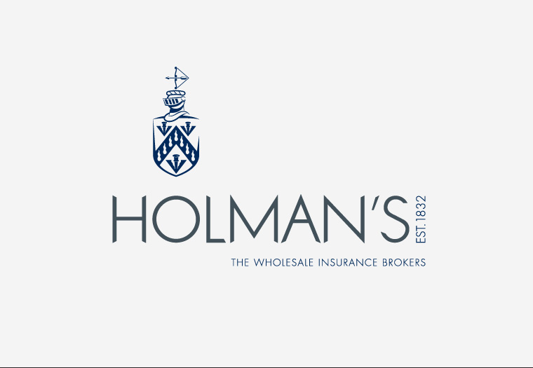 Avenue crafted Holman's crest and constructed some bespoke type to give this insurance broker the edge.