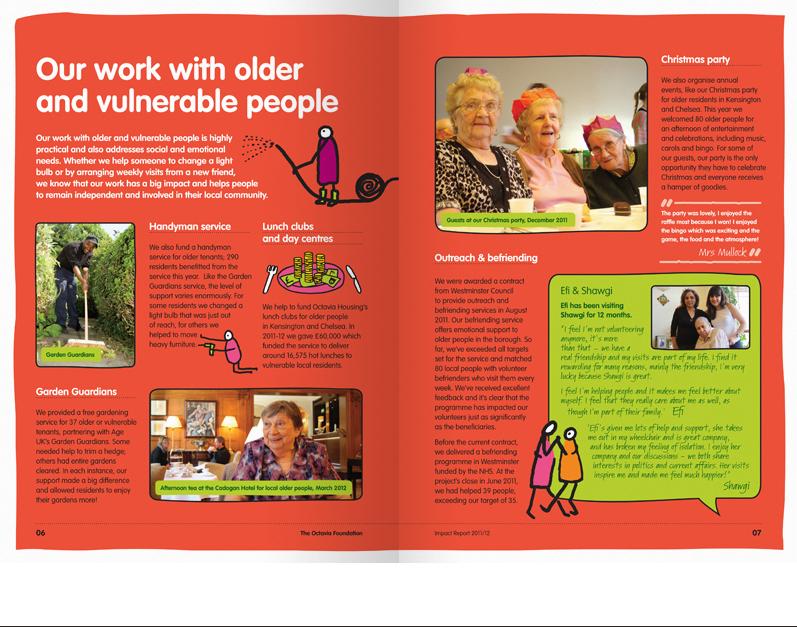 Octavia Foundation's work with older and vulnerable people