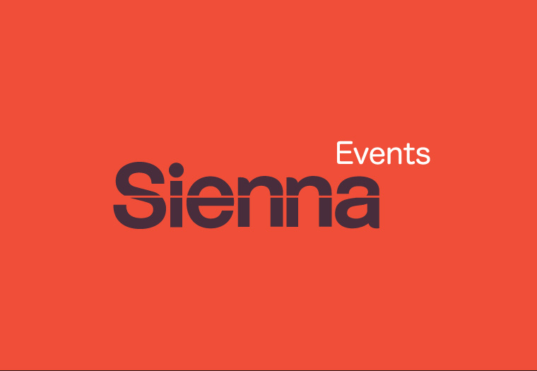 Sienna Events new corporate branding design.