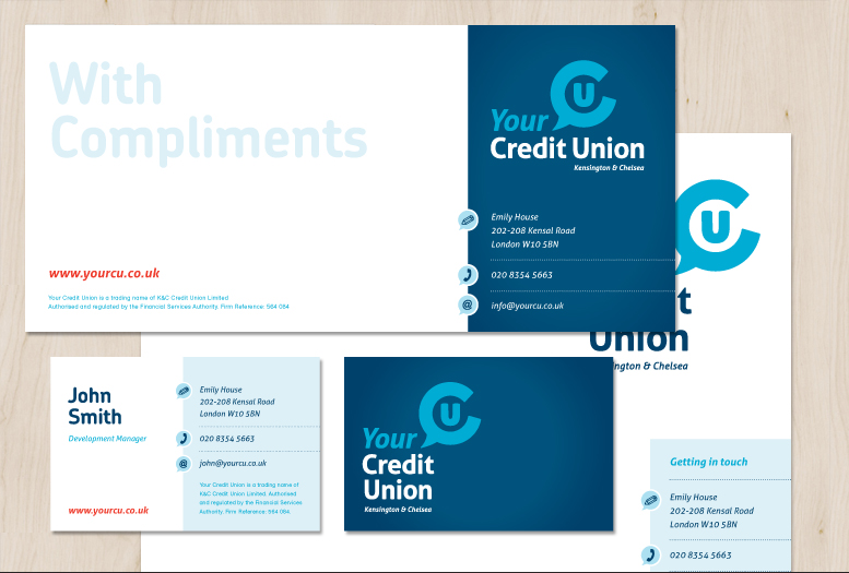 Your Credit Union business stationery design.
